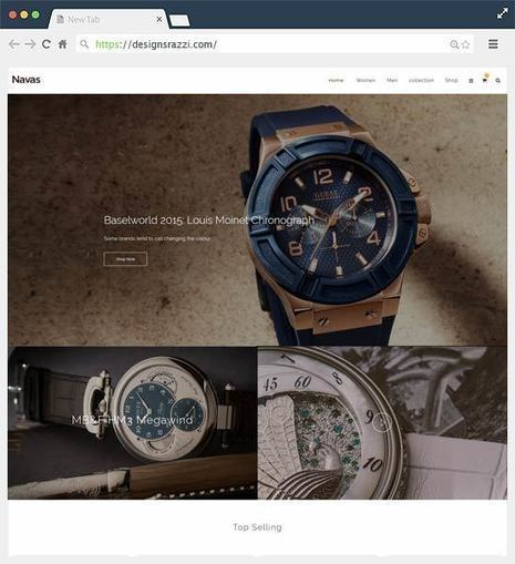 Navas Premium Magento Watch Stores Theme | Designrazzi | Designrazzi | Scoop.it