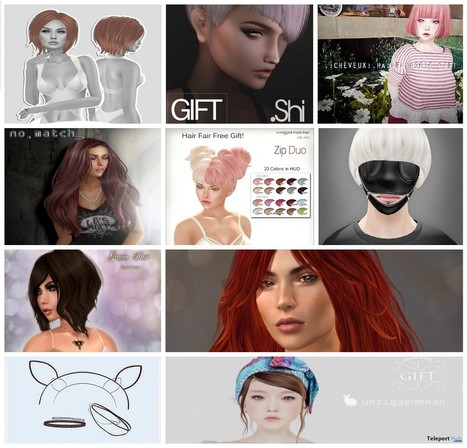 Tons of Hair and Hair Accessories Gift at Hair Fair 2016 | Teleport Hub - Second Life Freebies | Second Life Freebies | Scoop.it