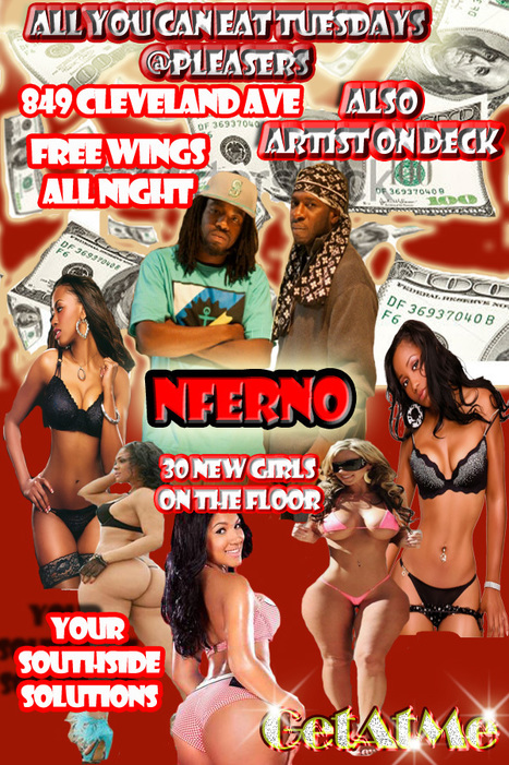 All You Can Eat Tuesdays @Pleasers ArtistOnDeck NFerno.................... | GetAtMe | Scoop.it