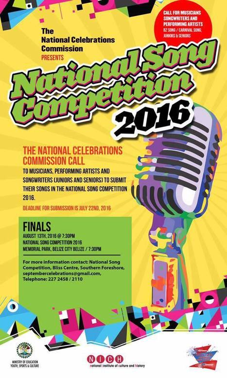 Tonight talented Belizean artists compete for the titles for the Belize National Song Competition 2016 | Travel - Things to do in Belize | Scoop.it