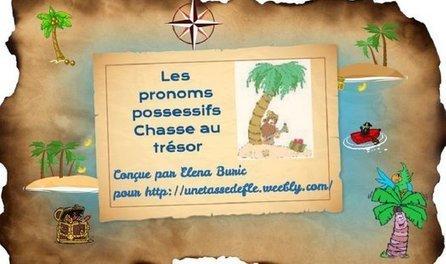 Les pronoms possessifs. Présentation en ligne et chasse au trésor | French, Paris, France | Scoop.it