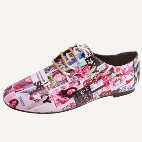 Spice up Your Fall fashion With These Magazine Print Shoes | All About Boots | Scoop.it
