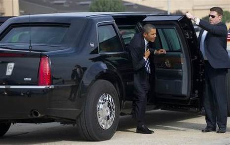 Obama's limo: Heavy armor, blood bank, night vision | Limo | Scoop.it