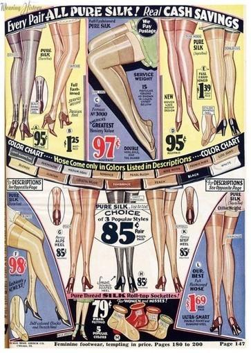 Fun Stockings from 1930   Wearing History   Stocking Exchange hosiery shops   Scoop.it