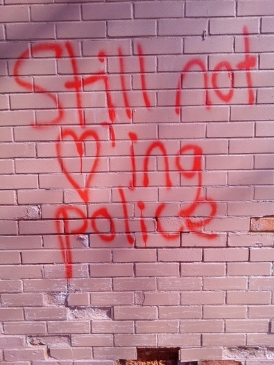 Downtown residents disturbed by anti-police graffiti - Canada.com | Art in public spaces | Scoop.it