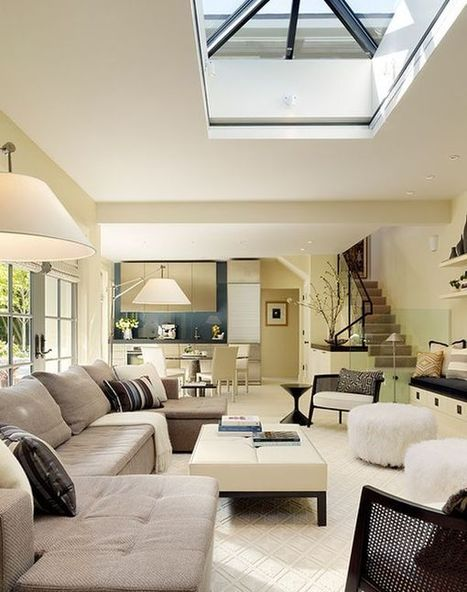 30 Inspirational Ideas for Living Rooms with Skylights | Carbon credits | Scoop.it