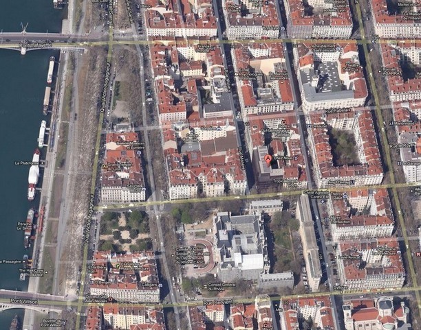 vue+satellite+préfecture+Lyon