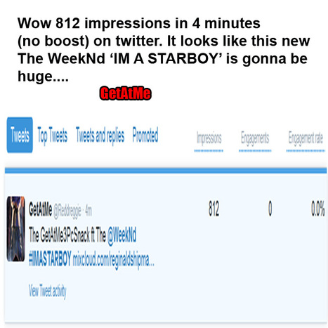GetAtMe Man 812 impressions on twitter in 4 minutes (no boost, all organic...) Thats crazy | GetAtMe | Scoop.it