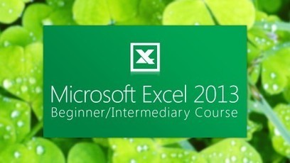 online courses: MS-Excel 2013 from UDEMY.   Online Courses   Scoop.it