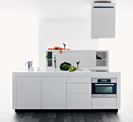 Modern Kitchen Design with Integrated Sink, Lacucina Alessi for Valcucine - Decoration one | Home living Spaces - Kitchen - Bathroom - Living | Scoop.it