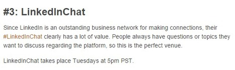 Linkedin Twitter Chats: Just for Marketers | Linkedin for Business Marketing | Scoop.it