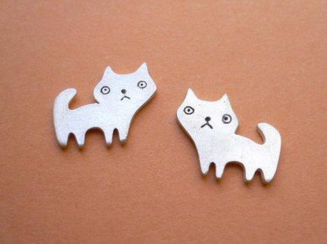 Cat Stud Earrings | Etsymode | Scoop.it