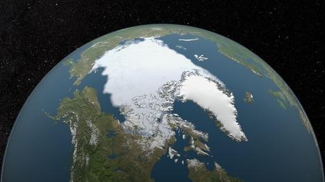 SVS: Annual Arctic Sea Ice Minimum 1979-2015 with Area Graph   natural sciences   Scoop.it