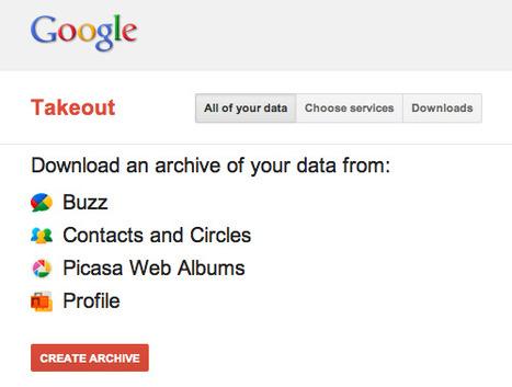 Google TakeOut facilite la migration de vos données | toute l'info sur Google | Scoop.it