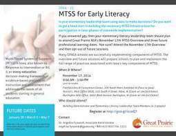 MTSS for Early Literacy | Multi-tiered Systems of Support | Scoop.it