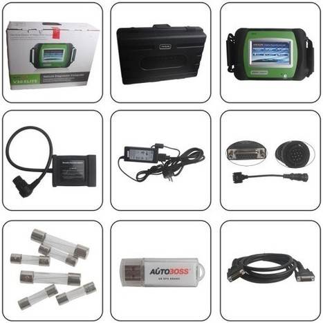 Original Autoboss V30 Elite vehicle diagnostic tool full set update online - US$1,299.00   obd2 tools   Scoop.it