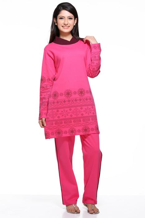 Magenta Color Winter Lounge Wear | Women Winter Clothes | Scoop.it