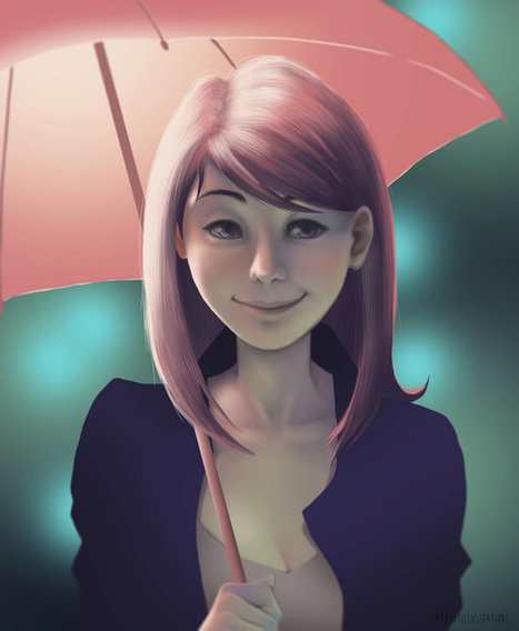 Umbrella. Digital painting. Printable download.   Creative Punch   Scoop.it
