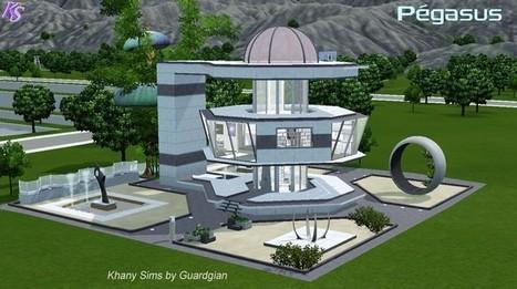 Pegasus maison futuriste for Maison moderne de luxe sims 3