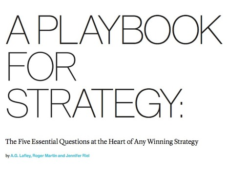 A Playbook for Strategy | Food for thought | Scoop.it