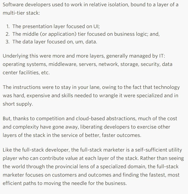 The Age of the Full-Stack Marketer - Gartner | The Marketing Technology Alert | Scoop.it