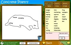 Concrete Poetry | Websites to Share with Students in English Language Arts Classrooms | Scoop.it