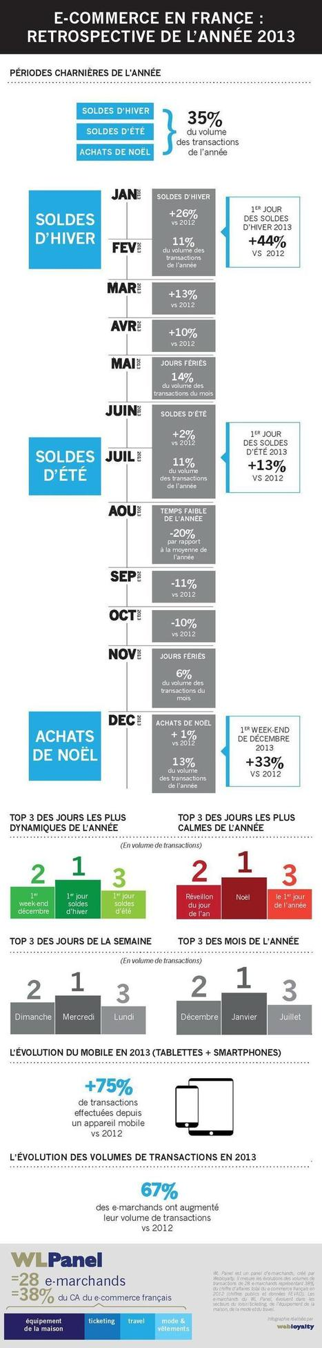 Infographie : les temps forts de l'e-commerce français en 2013 | Infographies E-commerce | Scoop.it