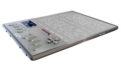 New technology sees first braille tablet | RNIB | Supporting people with sight loss | Educational technology , Erate, Broadband and Connectivity | Scoop.it