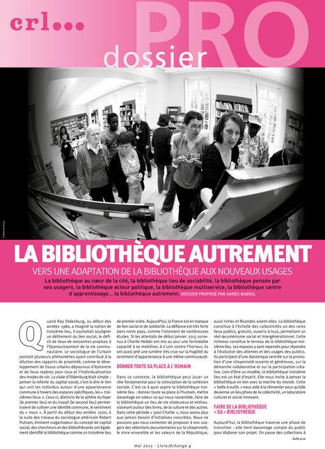 Vers une adaptation de la bibliothèque aux nouveaux usages | Innovation sociale | Scoop.it