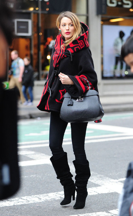 Blake Lively Hides Baby Bump Under Bold Cloak—Check Out Her Raven-Inspired Pregnancy Style! | Fashions And Deals | Scoop.it