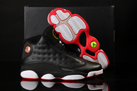 Black/Varsity Red/White/Vibrant Yellow-Jordan XIII Playoffs-Men-Basketball-Shoes | my style | Scoop.it