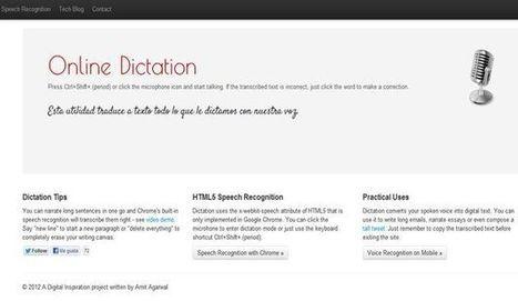 #OnlineDictation, convertir voz a texto #app #chrome #gratuita | Herramientas TIC para el aula | Scoop.it