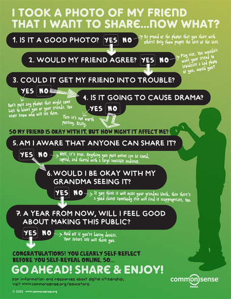 Digital Citizenship Poster for Middle and High School Classrooms | Common Sense Media | Social Media 4 Education | Scoop.it
