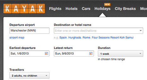 Kayak trawls reviews and search for package holiday service | Hospitality Technology | Scoop.it