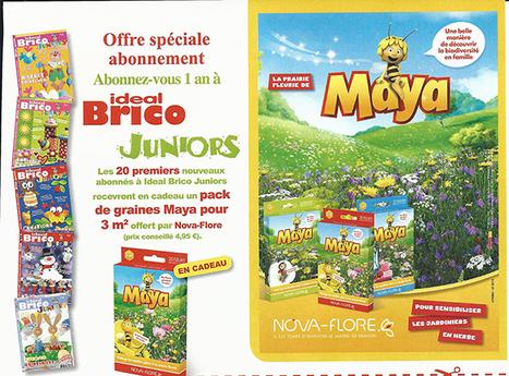 Nova-Flore - Des packs Maya l'abeille à gagner avec Ideal Brico Juniors | Actualités Nova-Flore | Scoop.it
