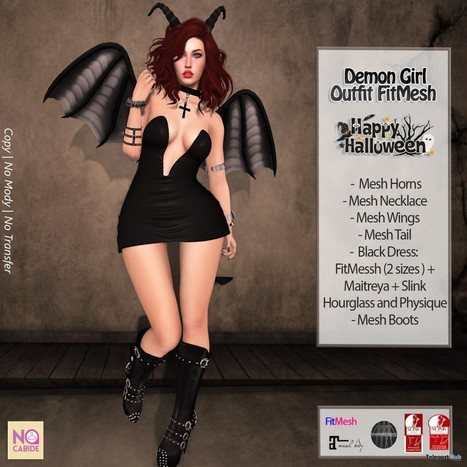 Demon Girl Outfit Group Gift by No Cabide | Teleport Hub - Second Life Freebies | Second Life Freebies | Scoop.it