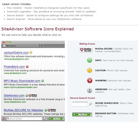 McAfee SiteAdvisor now supports Safari for Mac users | ICT Security Tools | Scoop.it