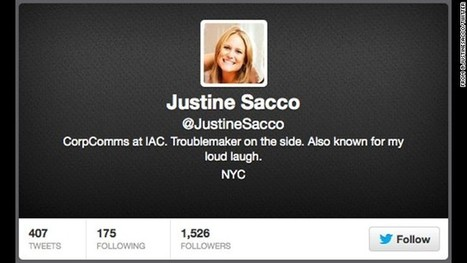 'Ashamed': Ex-PR exec Justine Sacco apologizes for AIDS in Africa tweet | The African | Scoop.it