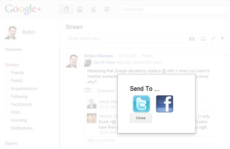 That Was Quick: Chrome Extension Adds Facebook, Twitter Sharing ToGoogle+ | SEO Tips, Advice, Help | Scoop.it