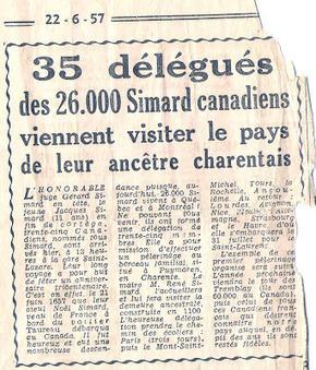 #challengeAZ : S comme Simard ~ La Gazette des Ancêtres | Rhit Genealogie | Scoop.it