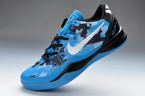 Nike Air Kobe Bryant VIII(8) Elite Athletic Shoes Men Size Blue & White & Black (Release) | new and share style | Scoop.it