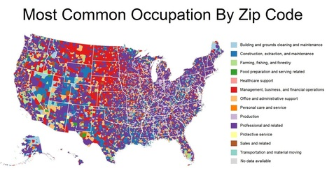 Industry: These Maps Show The Most Common Jobs In Each Zip Code | GHS Agricultural & Economic Geography | Scoop.it