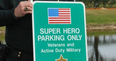'Super hero' parking spots honor vets, first responders | Kickin' Kickers | Scoop.it