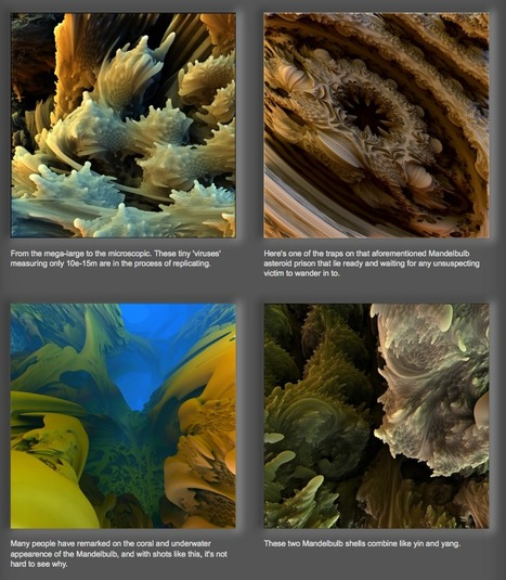 Mandelbulb 3D fractals - Large collection of three dimensional fractal worlds [Videos] | Science-Videos | Scoop.it