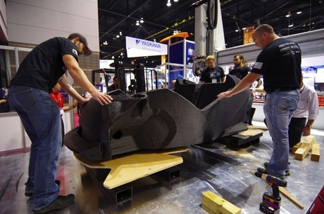Strati 3D-Printed Car Produced LIVE at International Manufacturing Technology Show in Chicago #3DxVehicle #3DThursday #3DPrinting | Heron | Scoop.it
