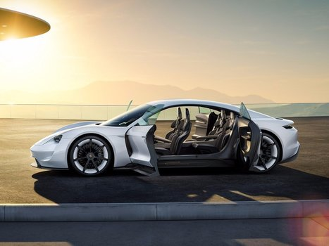 Porsche will take on Tesla with this sleek all-electric sports car | #Technology | Scoop.it