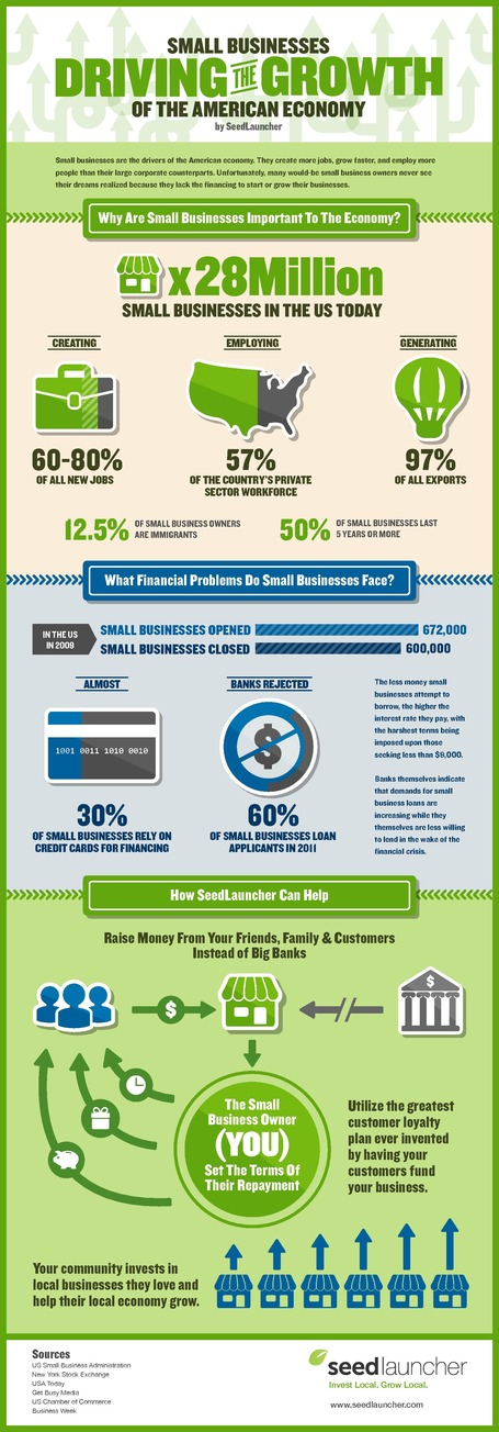 Small Businesses Fuel the American Economy Infographic | Seedlauncher | Crowdfunding World | Scoop.it