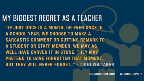 My Biggest Regret as a Teacher - Cooper on Curriculum | Leadership, Innovation, and Creativity | Scoop.it