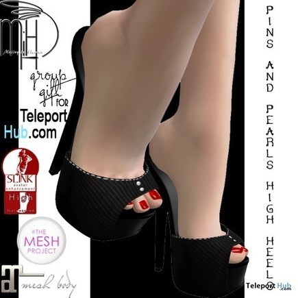 Pins & Pearls Heels Teleport Hub Group Gift by Mutiny in Heaven | Teleport Hub - Second Life Freebies | Second Life Freebies | Scoop.it