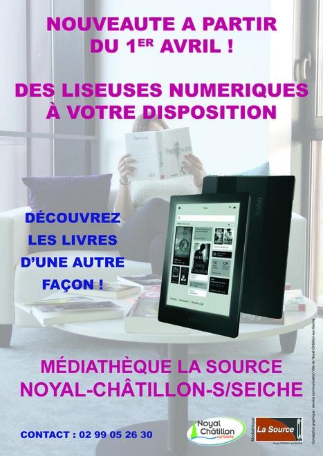3 liseuses à la Médiathèque La Source - Noyal-Châtillon-sur-Seiche (35) | Lire en numérique en bibliothèque | Scoop.it